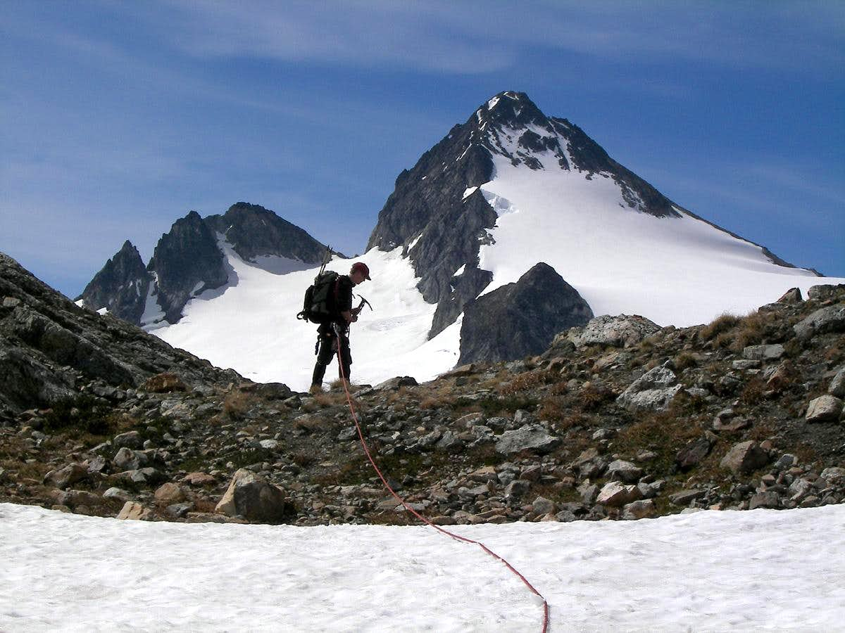 Testing a new ACL on Snowfield Peak 07-07-2007