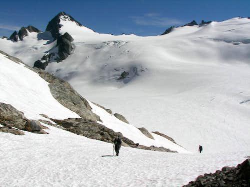 Leaving the Neve Glacier