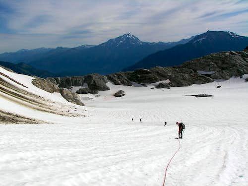 Crossing the Colonial Glacier