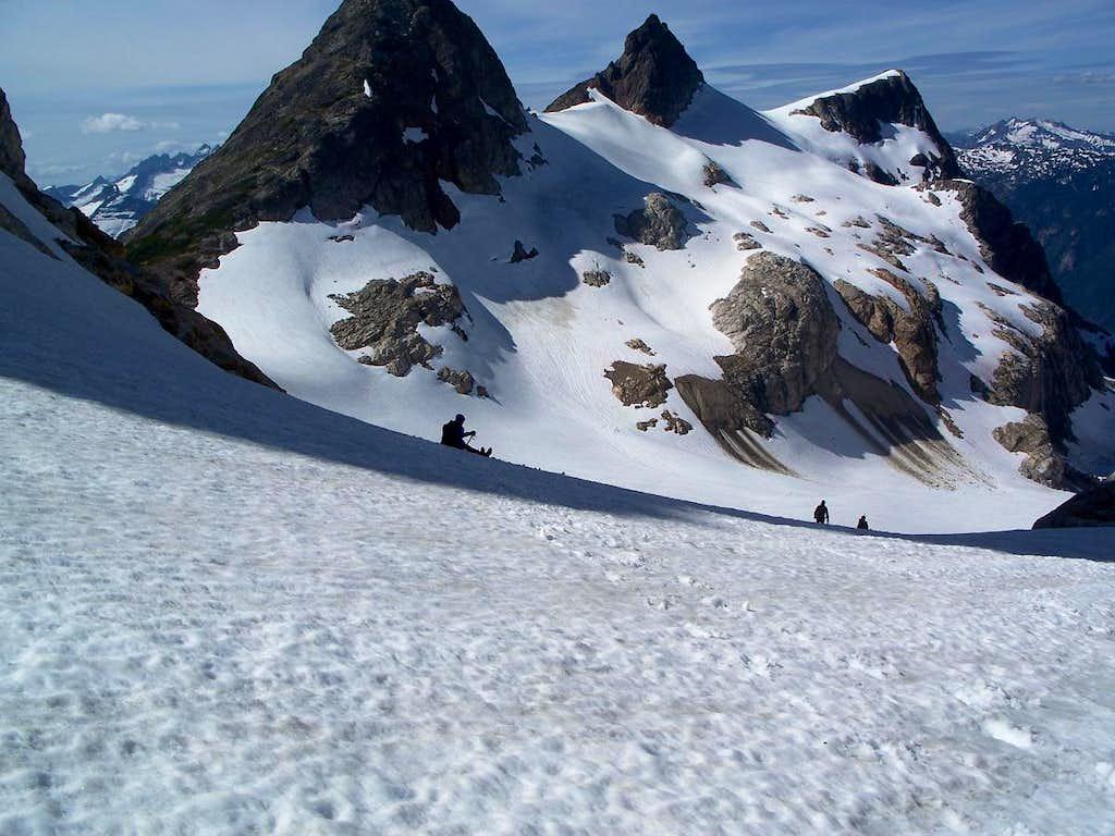 Glissading the Colonial Glacier
