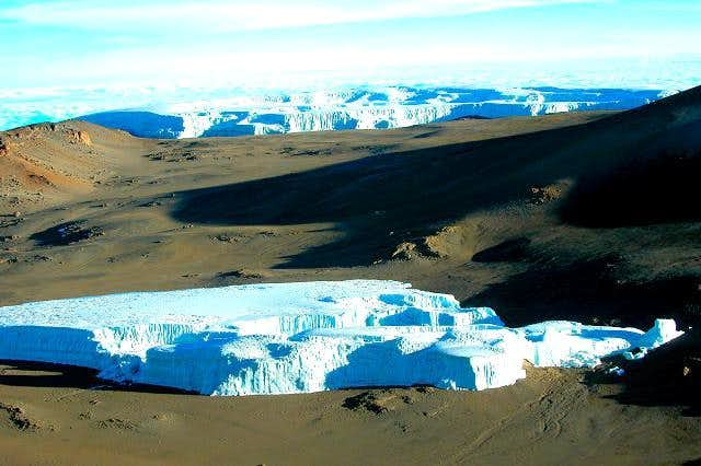 Kilimanjaro - The crater with...
