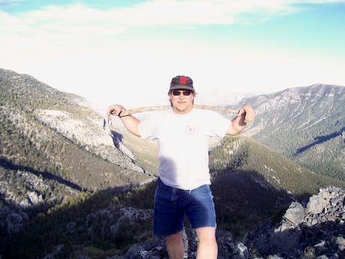 LV Hiker on the summit of Cockscomb Peak