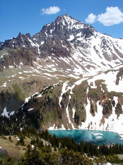 Sneffels above Lower Blue Lake