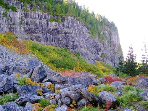 Fall color and cliffs you...
