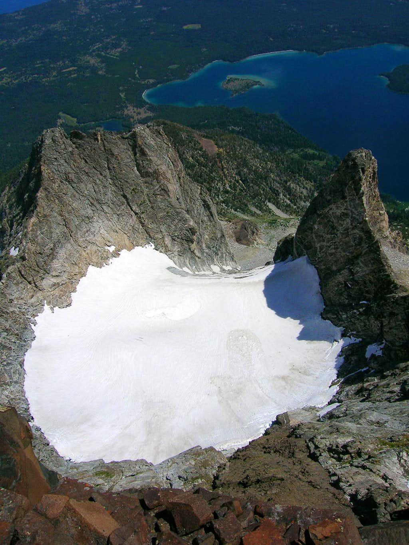 Falling Ice Glacier