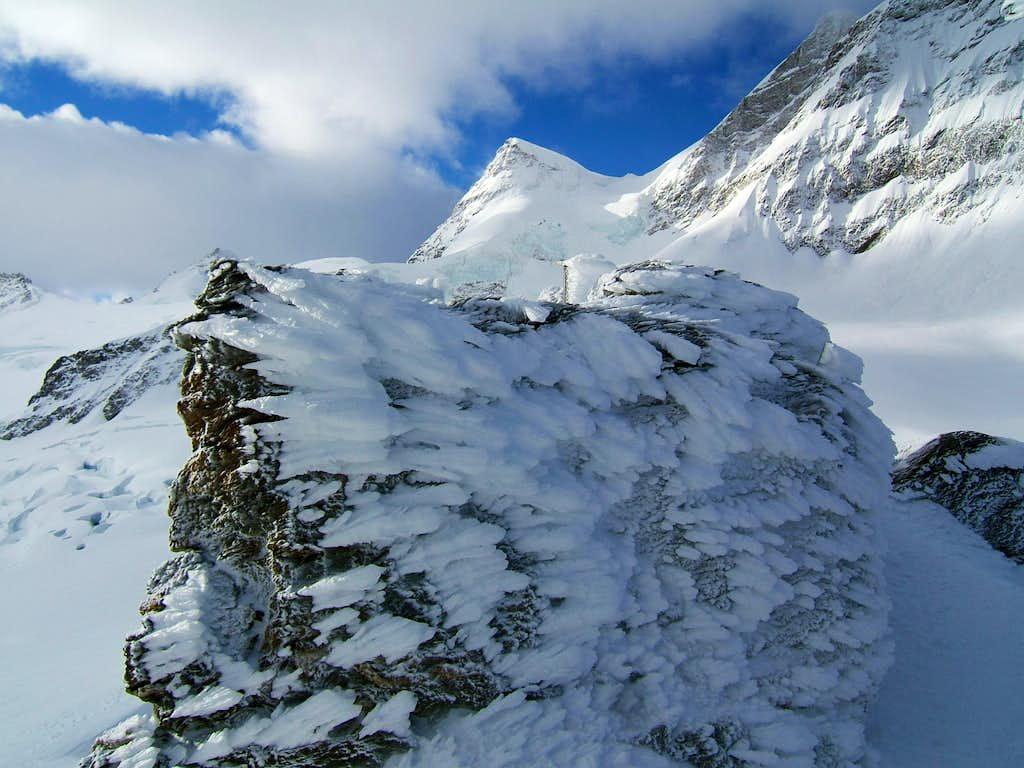 Rime ice below Jungfrau