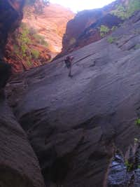 110' Rappel near the end of Mystery Canyon