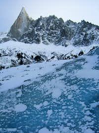Aiguille du Dru from le Mer de Glace
