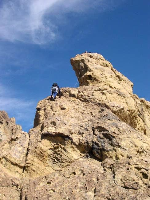 Haydar nearing the summit of...