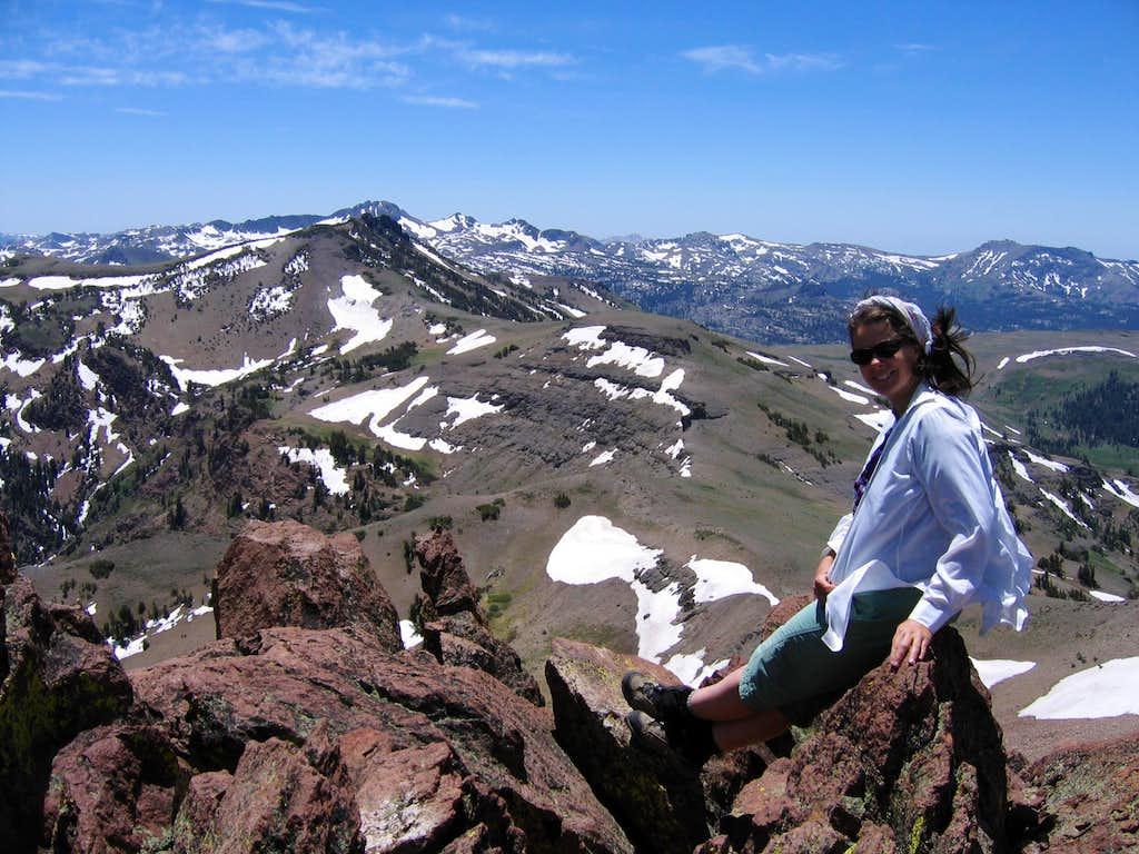 Summit View On Stevens Peak