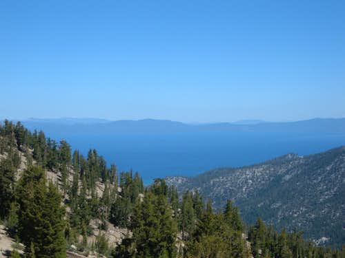 Lake Tahoe from high on the TRT