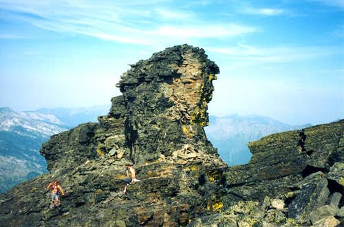 Outcrop Near the Summit of  A  Peak