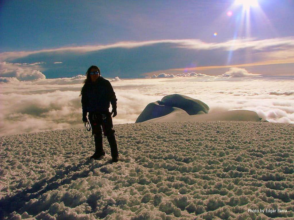 Cayambe (5,790 m/18,996 ft). Ecuador