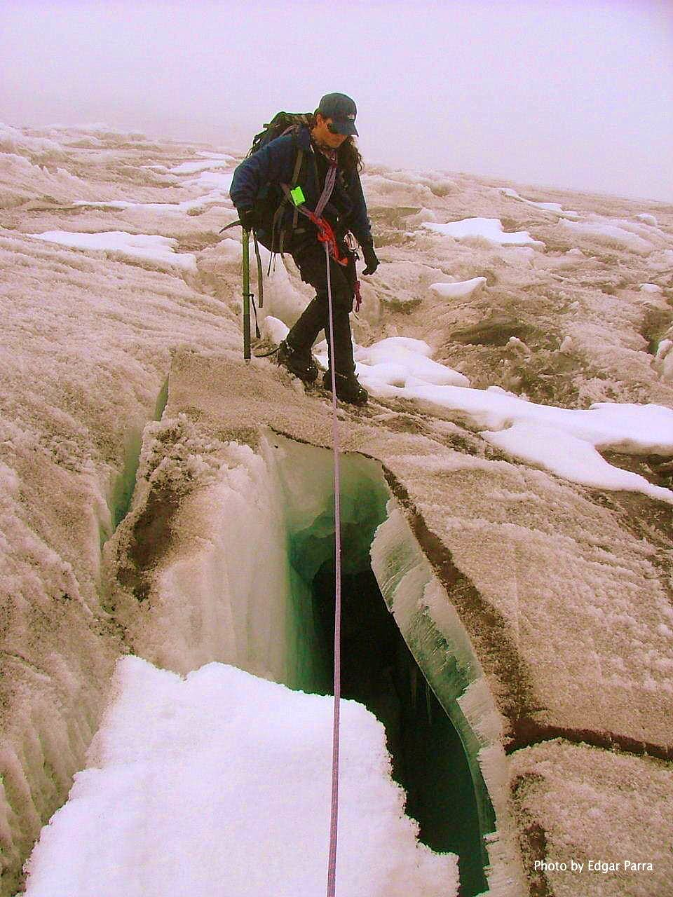 Crevasse crossing.