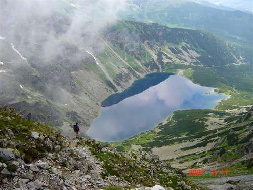View of Black Gasienicowy Lake in Tatras