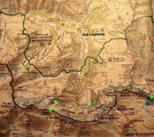 Map of the area, 1:50.000. I...