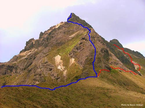 Rucu Pichincha. Direct Route. Jan. 2007.