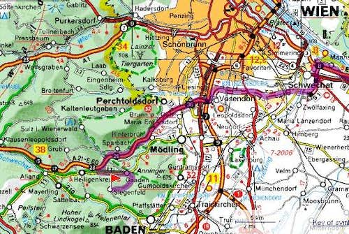 Map to Siegenfelder Platte