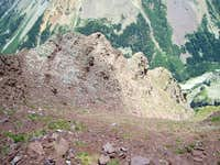 The second ascent gully, Northeast Ridge Route