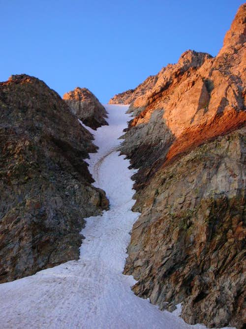 Red Slate north couloir