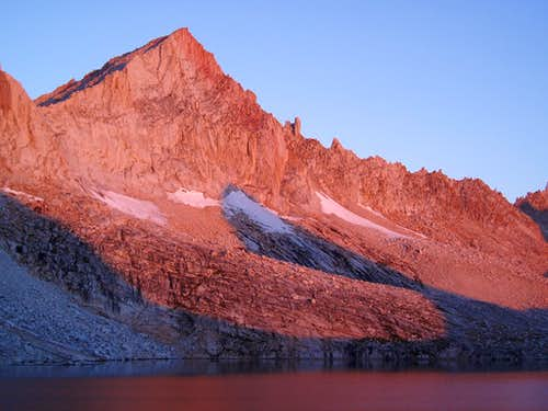 Feather Peak alpenglow