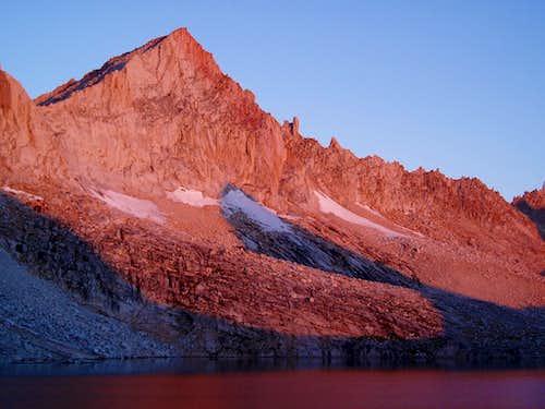 Feather Peak alpenglow
