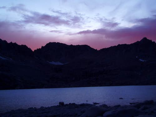 Sunset in the Royce Lakes