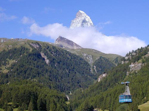 Matterhorn with old cable car