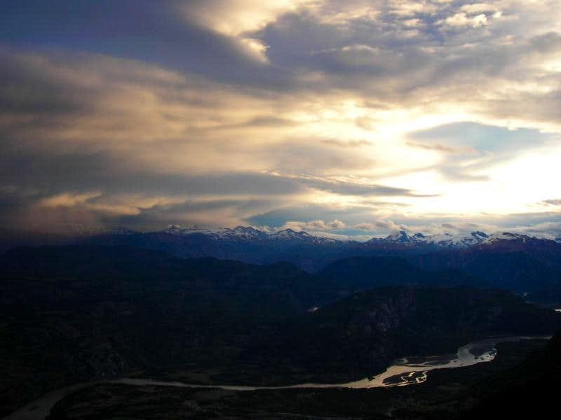 Sunset on Rio Ibañez