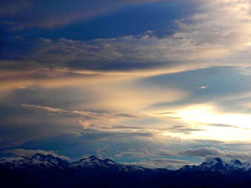 Sunset on Cordillera Castillo