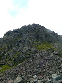 The steep north east face.