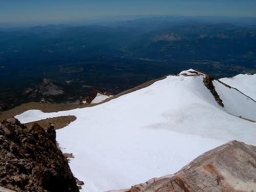 Mt Shasta Summit View South