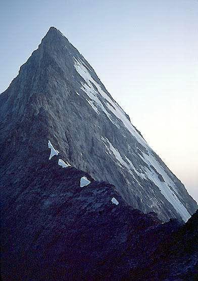 View up the Mittellegi Ridge...
