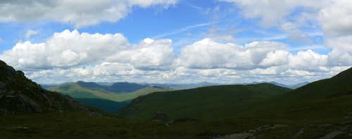 The view NW over Ben Our from Bealch an Dubh Choirein
