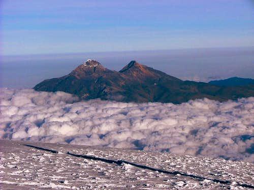 Illinizas from the summit.