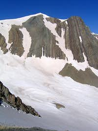 Summit from east