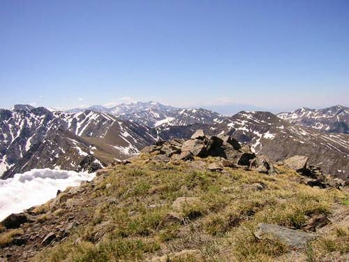 Mount Owen\'s grassy summit...