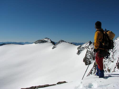 View on ridge Monte Magro - Monte Nevoso