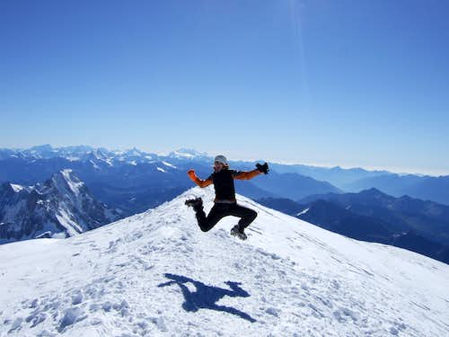 Mont Blanc summit posing pictures