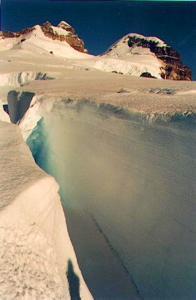 some crevasses