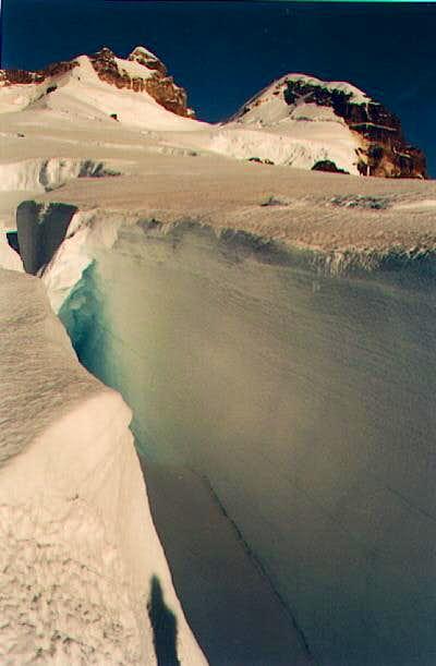 some crevasses