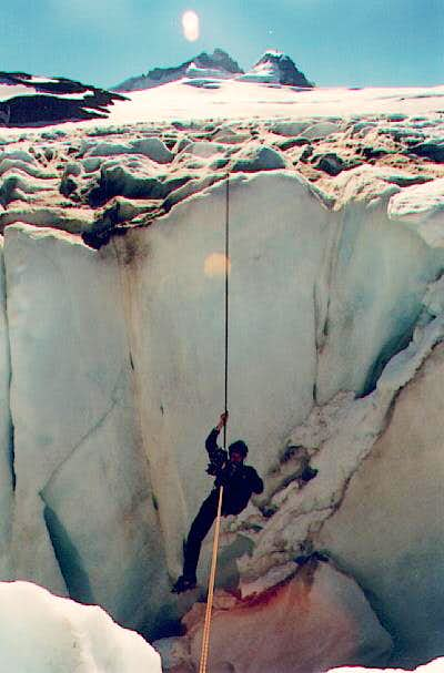 playing in the crevasses