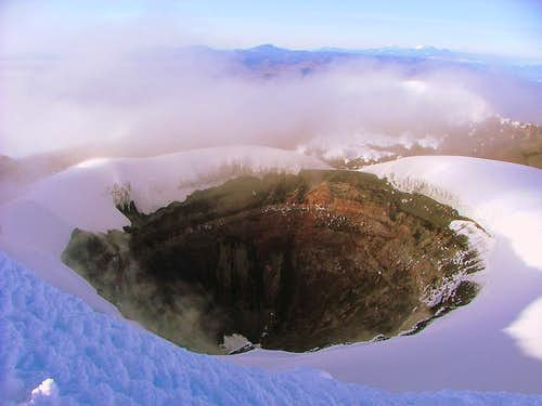Cotopaxi's crater.