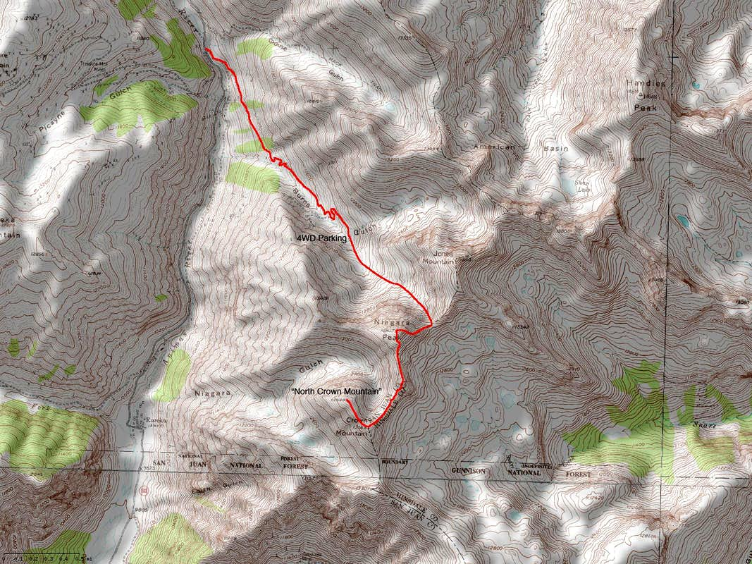 Niagara Peak s East Ridge Route via Burns Gulch