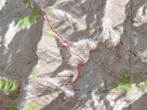 Niagara Peak\'s East Ridge Route via Burns Gulch
