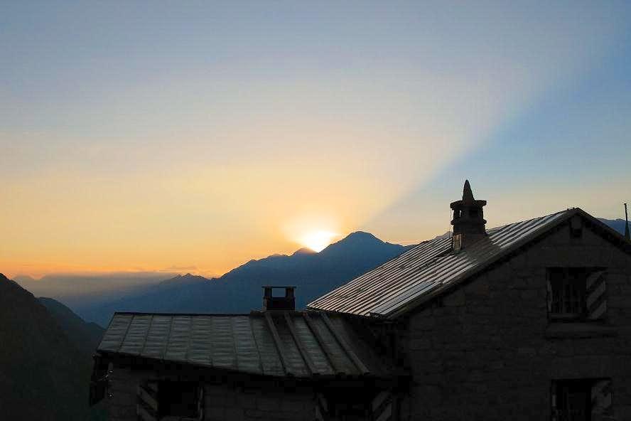 Evening in Sciora Hut