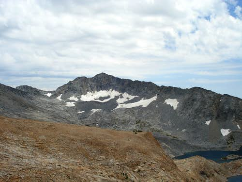 Merced Peak and its glacier, from the south slopes of Red Peak