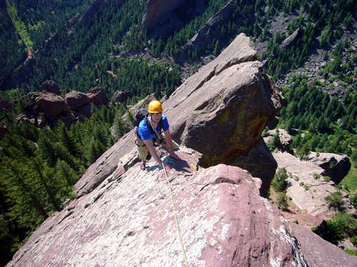 Andy Approaching the First Belay