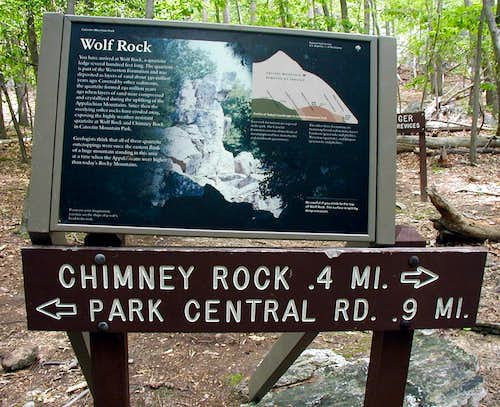 Sign at Wolf Rock