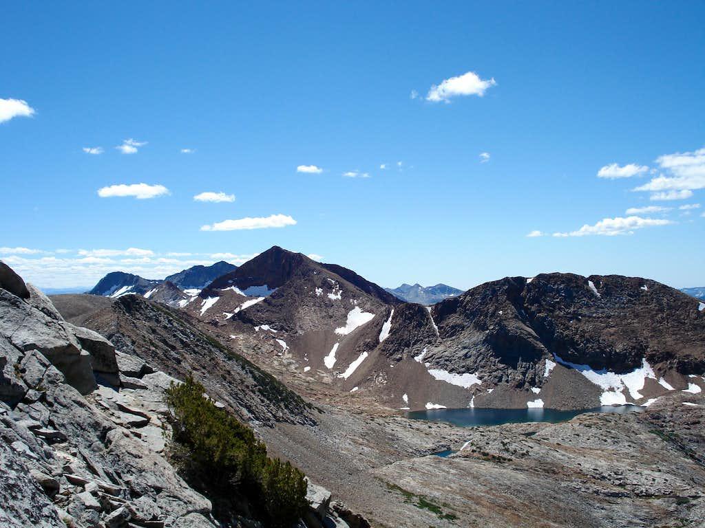 Red Peak from the west ridge of Grey Peak